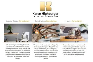 home page for interior designer