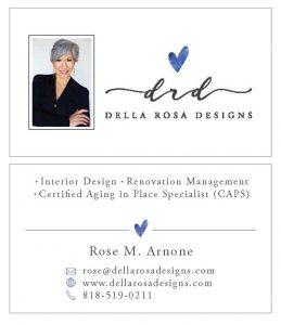 Della Rosa Designs Business Card