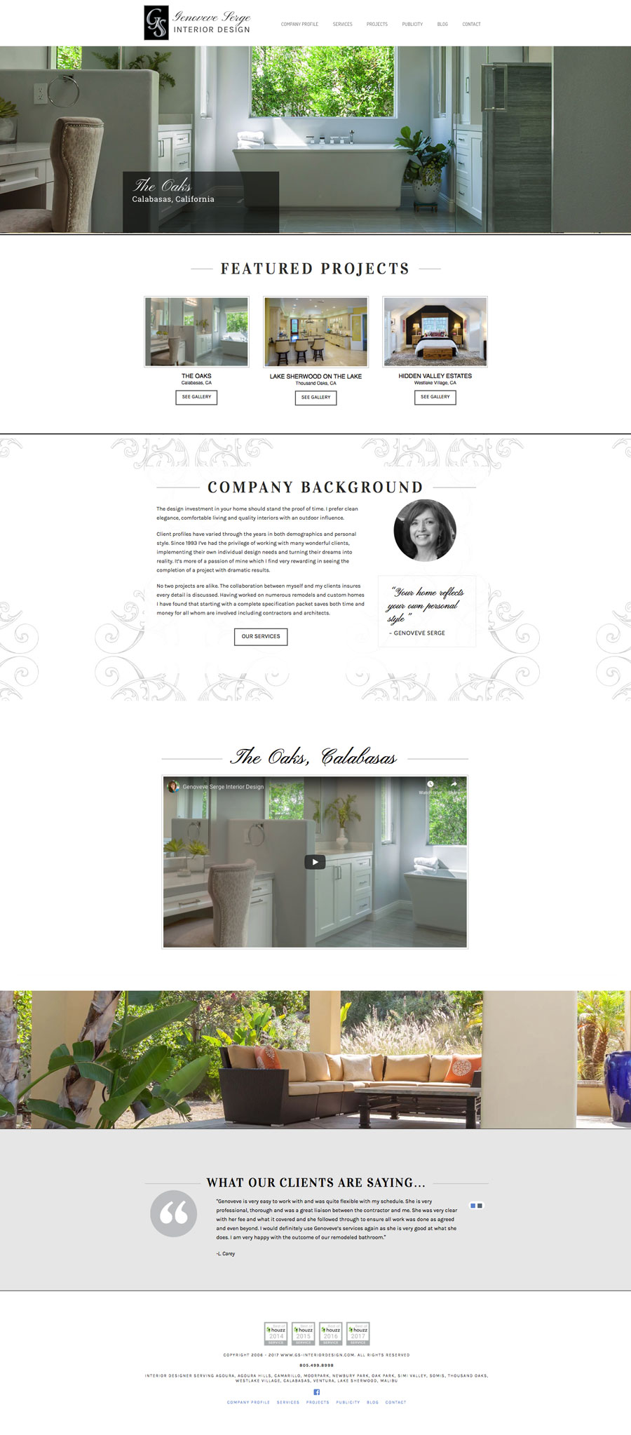 interior designer home page