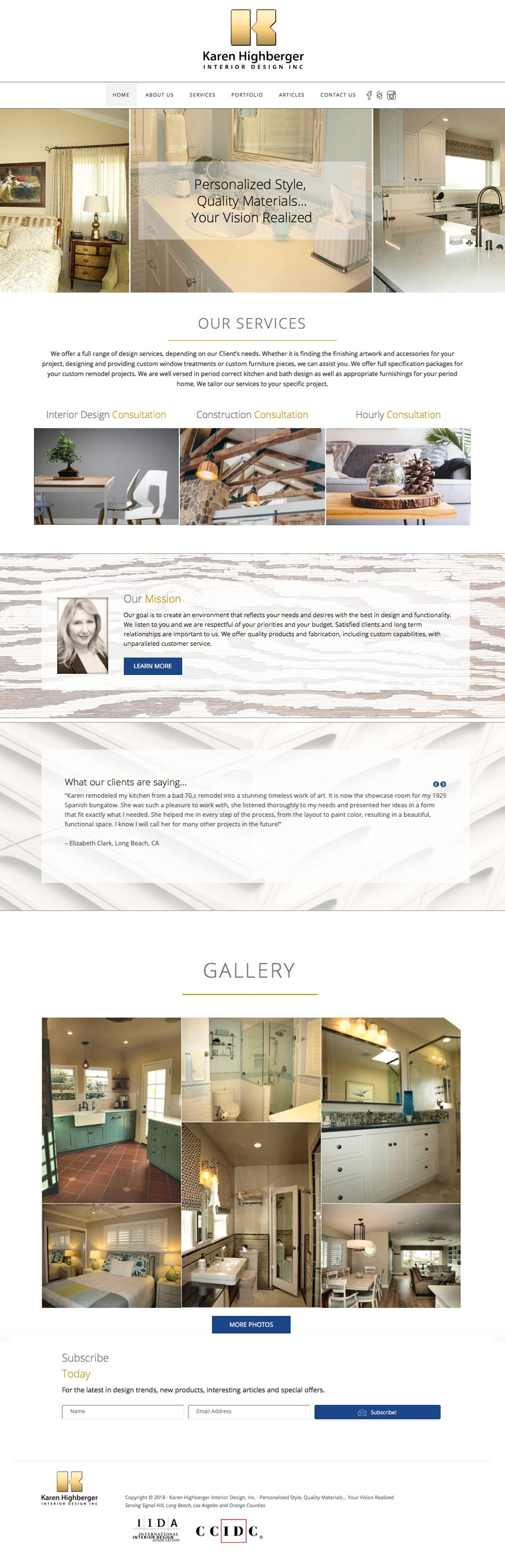 karen highberger interior design website
