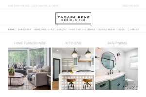 Interior design website home page