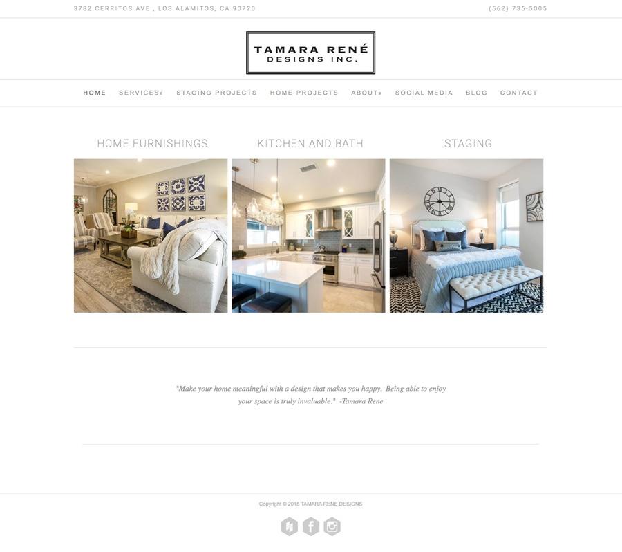 Tamara Rene Designs home page